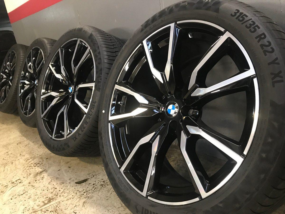 Gyári alufelni BMW X7 9,5X22-10,5X22 5X112 alufelni (755M styl) új nyári garnitúra! Continental defekttűrő gumikkal,nyomásszenzorral! 1