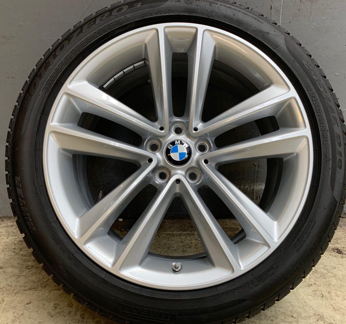Gyári alufelni BMW 7 G11 (630 Styl) 8,5X19 ET25 alufelni újszerű téligarnitúra Pirelli defekttűrő gumikkal 1