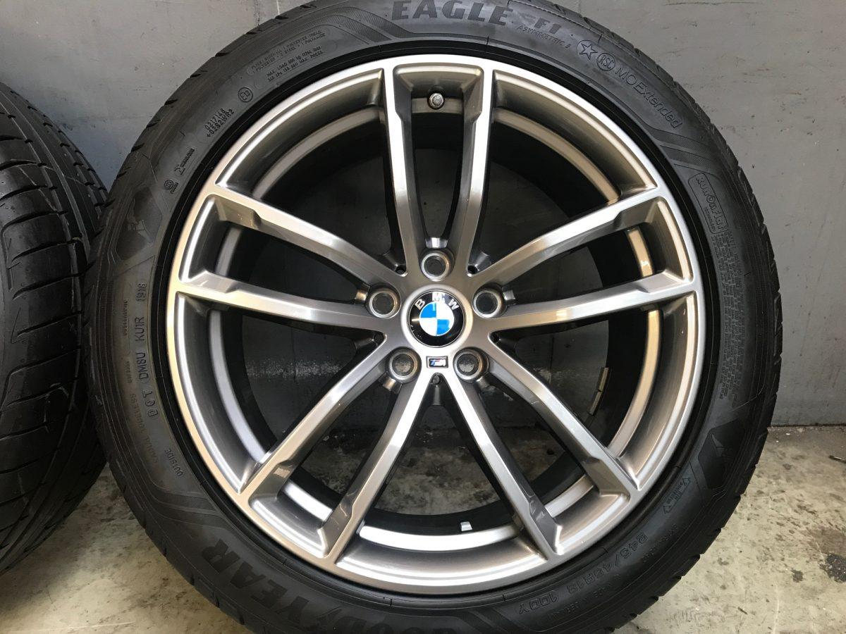 Gyári alufelni BMW G30 (662M styl) 8X18 9X18 5x112 alufelni újszerű nyári garnitúra! Goodyear gumikkal 1
