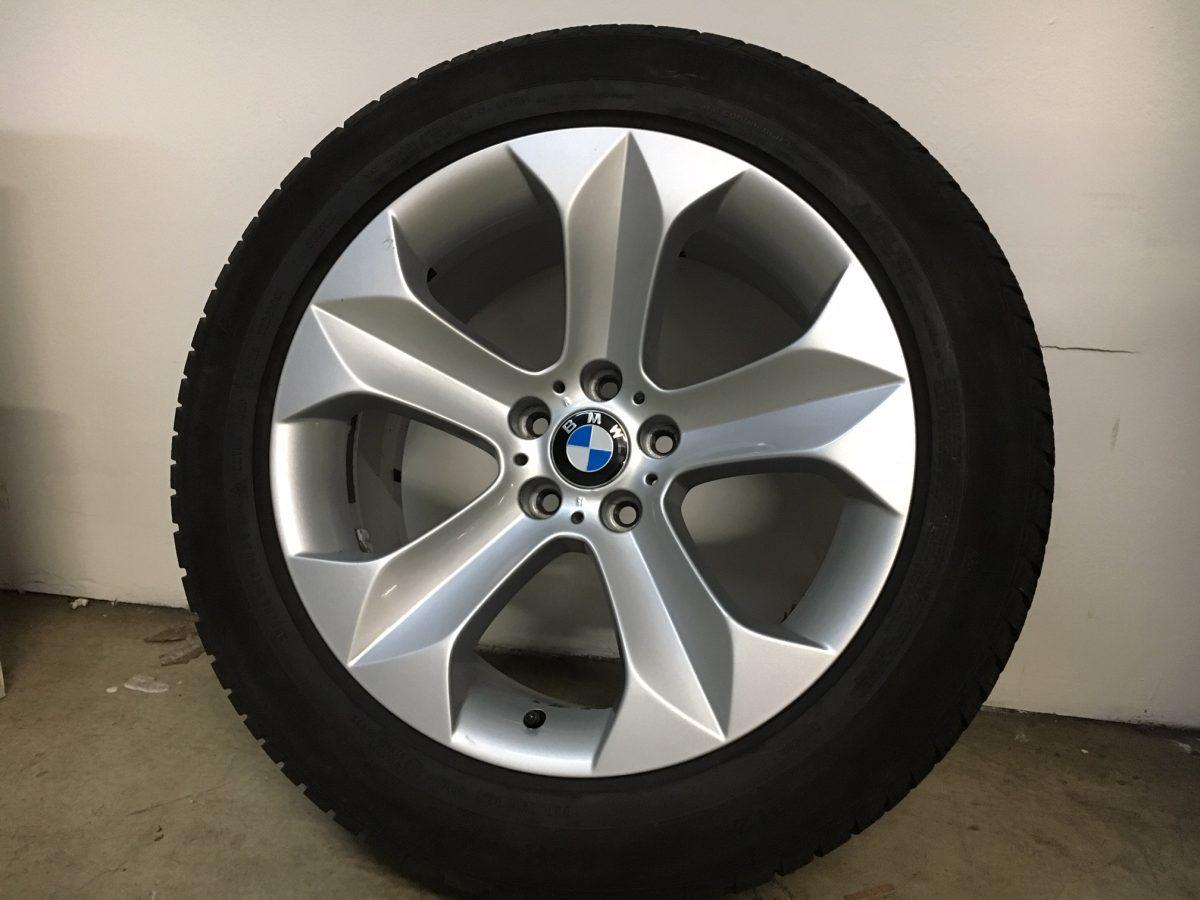 Gyári alufelni BMW X6 E71 (232 Styl) 9x19 ET48 - 9X19 ET18 alufelni 255/50R19 Continental defekttűrő téli gumikkal! 1