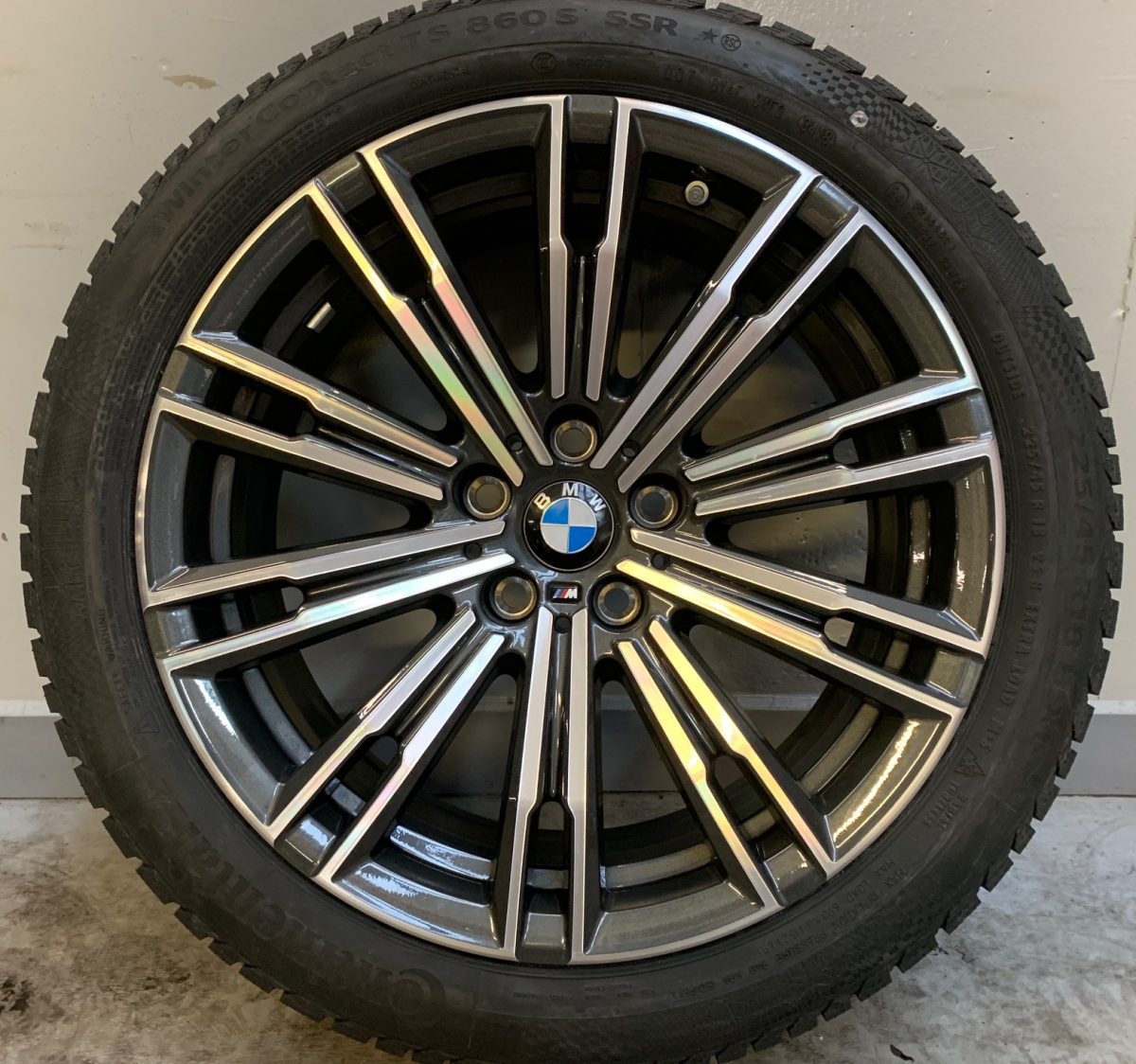 Gyári alufelni BMW G20 (790M styl) 7,5X18 alufelni új téli garnitúra! Continental gumikkal,nyomásszenzorral! 1