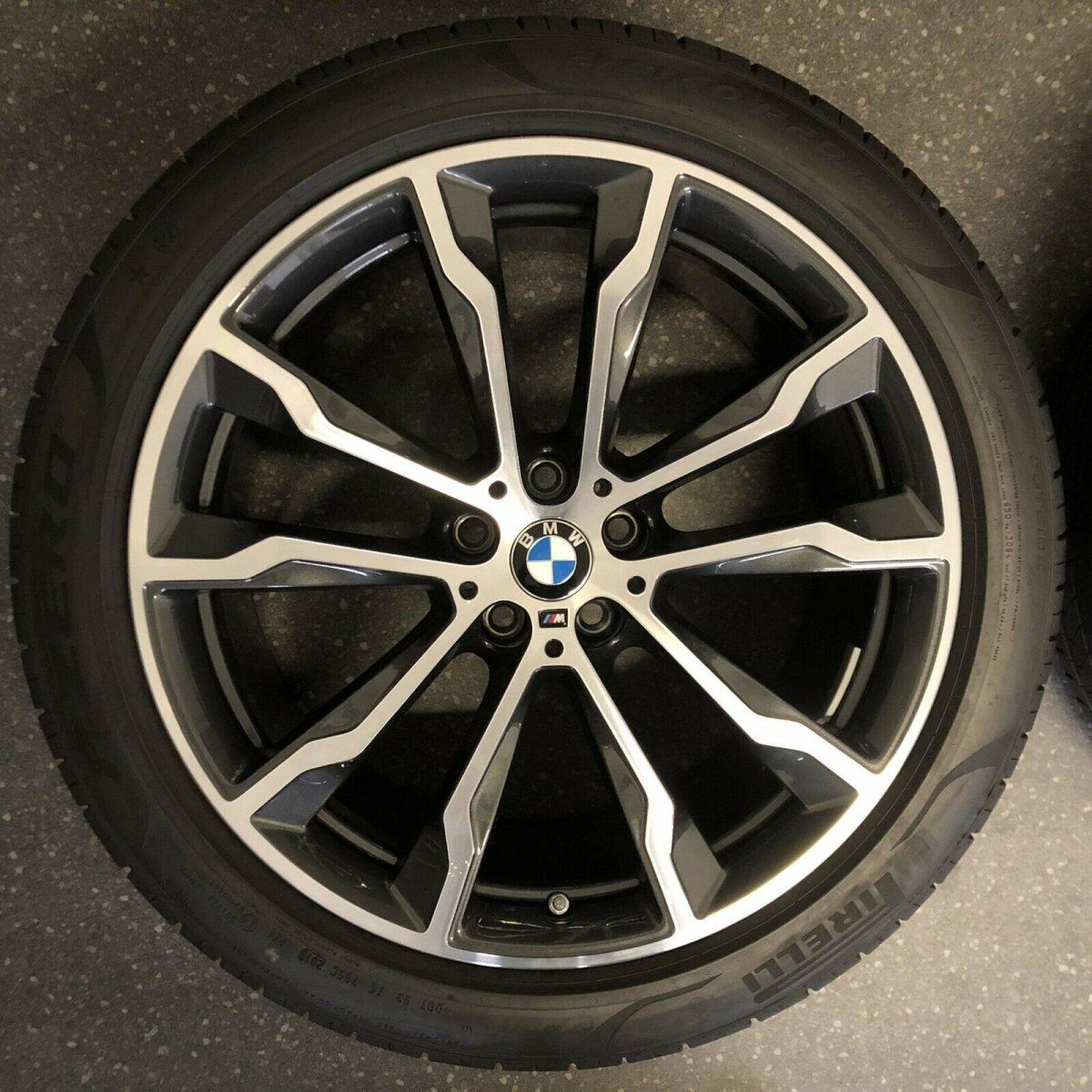 Gyári alufelni BMW X3-X4 G01-G02 (699M Styl) 8X20-9,5X20 5X112 alufelni új nyári garnitúra! Bridgestone defekttűrő gumikkal,nyomásszenzorral! 1