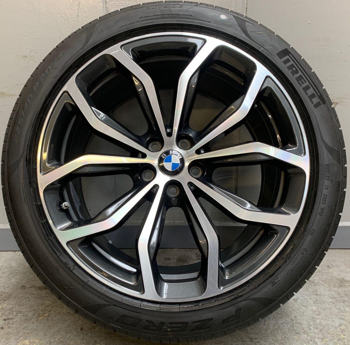 Gyári alufelni BMW X3-X4 G01-G02 (695 Styl) 8X20-9,5X20 5X112 alufelni újszerű nyári garnitúra! Pirelli defekttűrő gumikkal,nyomásszenzorral! 1
