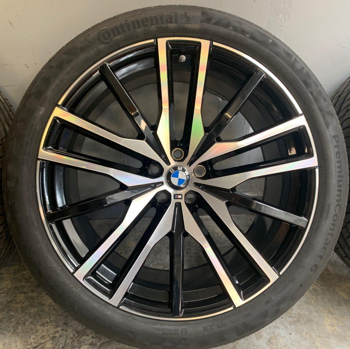 Gyári alufelni BMW X5-X6 G05-G06 (742M Styl) 9,5X22-10,5X22 5X112 alufelni új nyári garnitúra! Continental gumikkal,nyomásszenzorral! 1