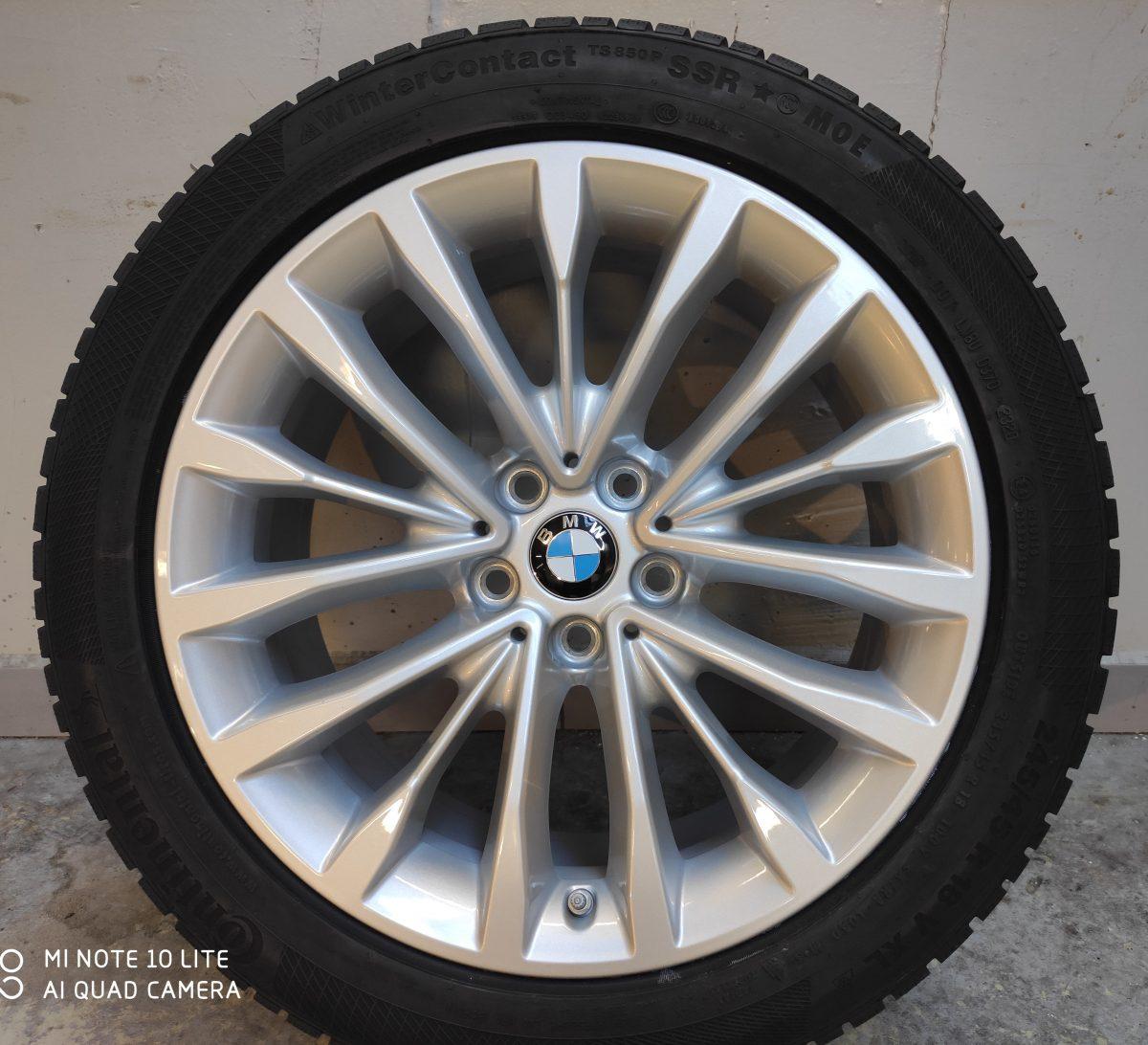 Gyári alufelni BMW G30 (632styl) 8X18 ET30 alufelni Continental defekttűrő téli gumikkal és jeladóval. 1