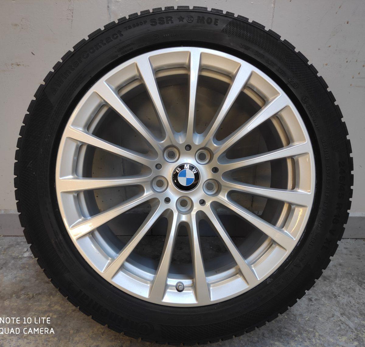 Gyári alufelni BMW G30 (619styl) 8X18 ET30 alufelni Continental defekttűrő téli gumikkal és jeladóval. 1