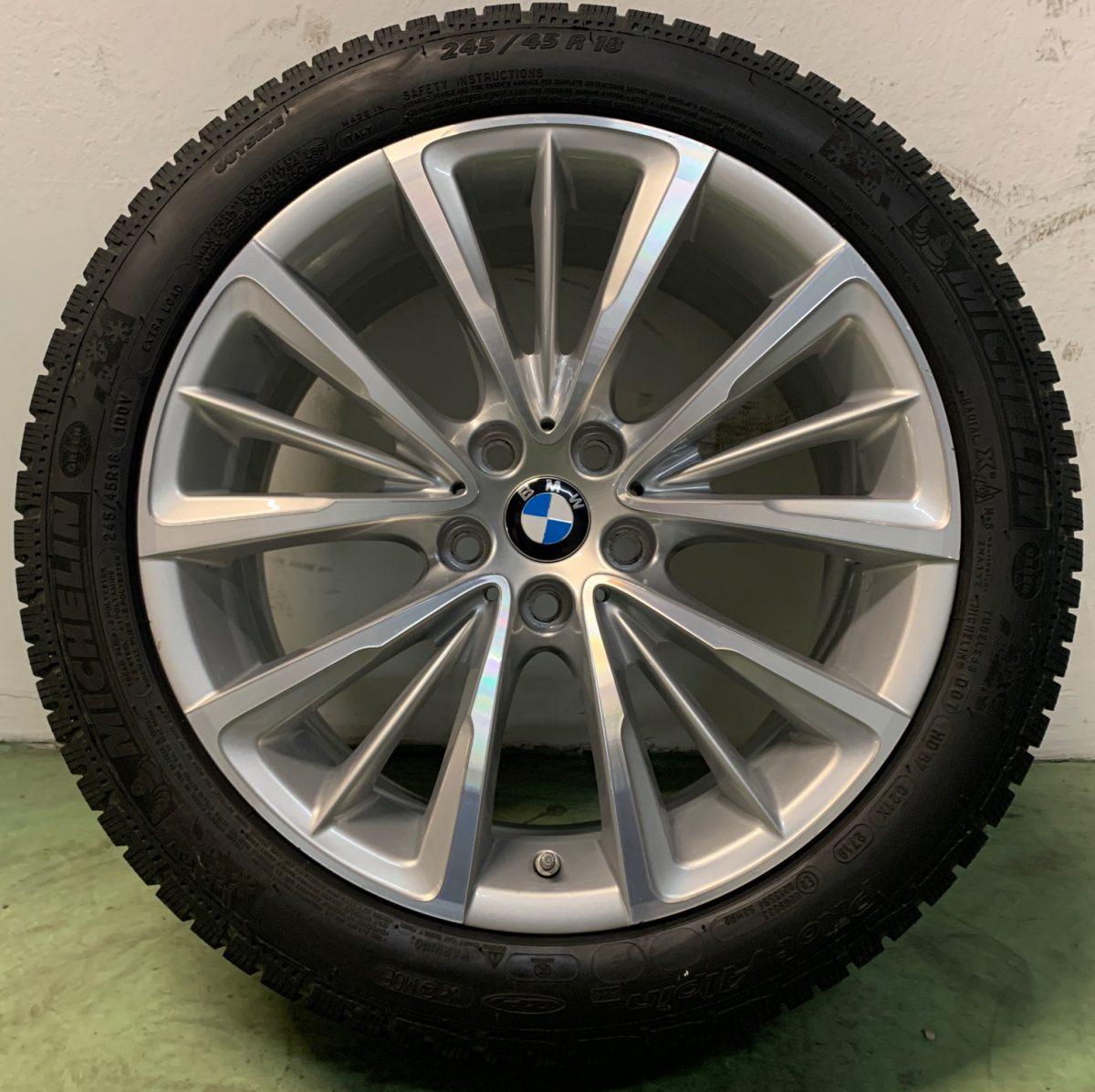 Gyári alufelni BMW G30 (643 styl) 8X18 alufelni újszerű téli garnitúra! Michelin gumikkal,nyomásszenzorral! 1