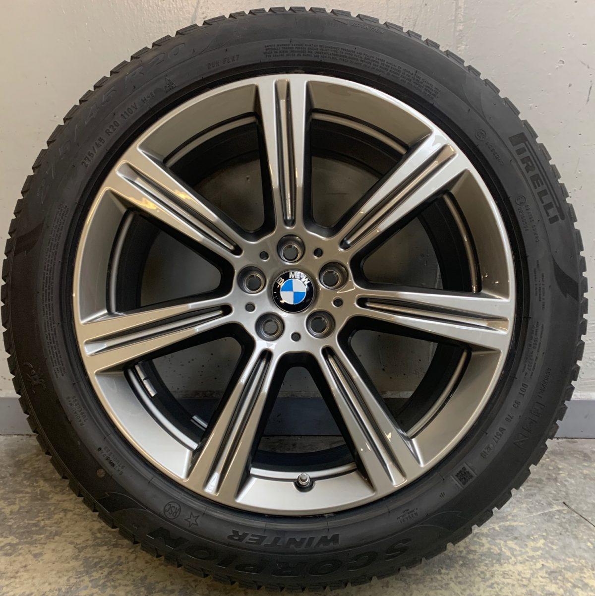 Gyári alufelni BMW X5 G05 (736 Styl) 9X20 5X112 alufelni új téli garnitúra! Pirelli defekttűrő gumikkal,nyomásszenzorral! 1