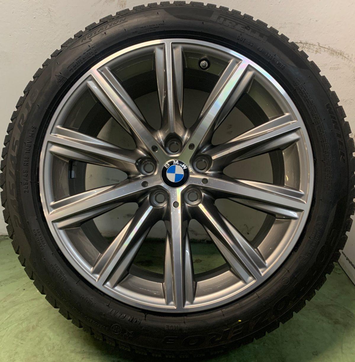 Gyári alufelni BMW G30 (684 styl) 8X18 alufelni újszerű téli garnitúra! Pirelli gumikkal,nyomásszenzorral! 1