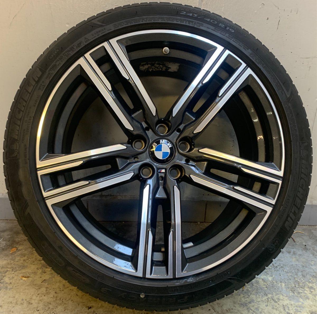 Gyári alufelni BMW 3 G30-G15 (727M Style) 8X19 9x19 új nyárikerék-garnitúra! kétszéles Pirelli és Michelin gumikkal,nyomásszenzorral 1