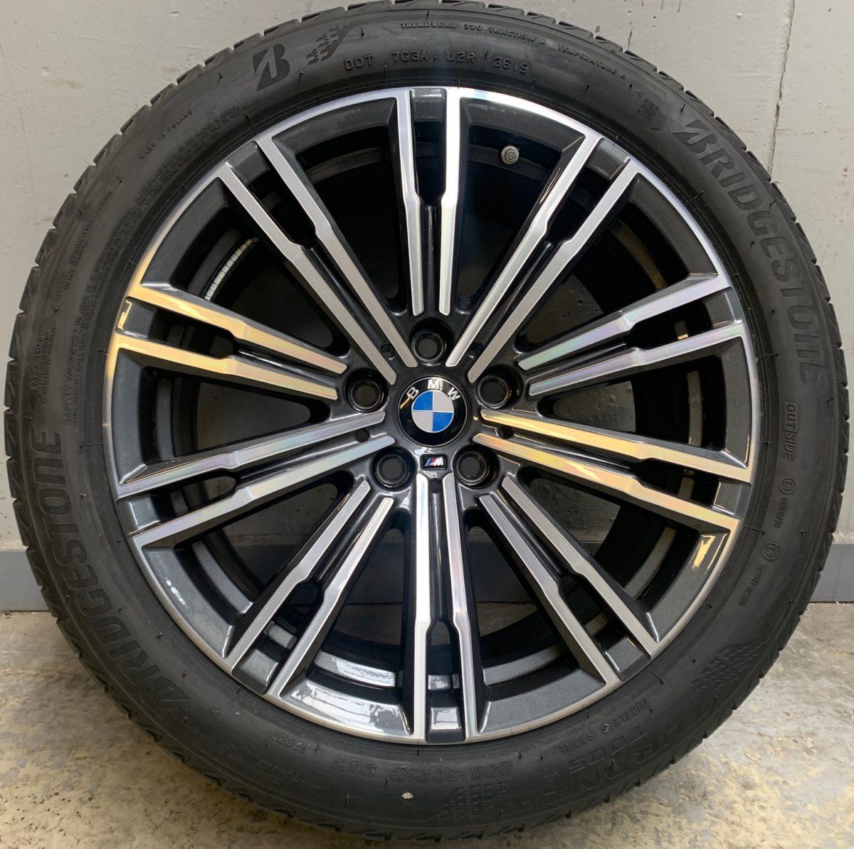 Gyári alufelni BMW G20 (790M styl) 7,5X18 8,5X18 5x112 alufelni új nyári garnitúra! Bridgestone gumikkal 1