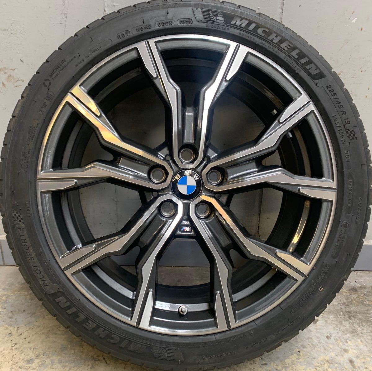 Gyári alufelni BMW X1 F48-X2 F39 (816M styl) 5x112 8X19 ET47 Michelin nyári gumikkal,nyomásszenzorral! 1