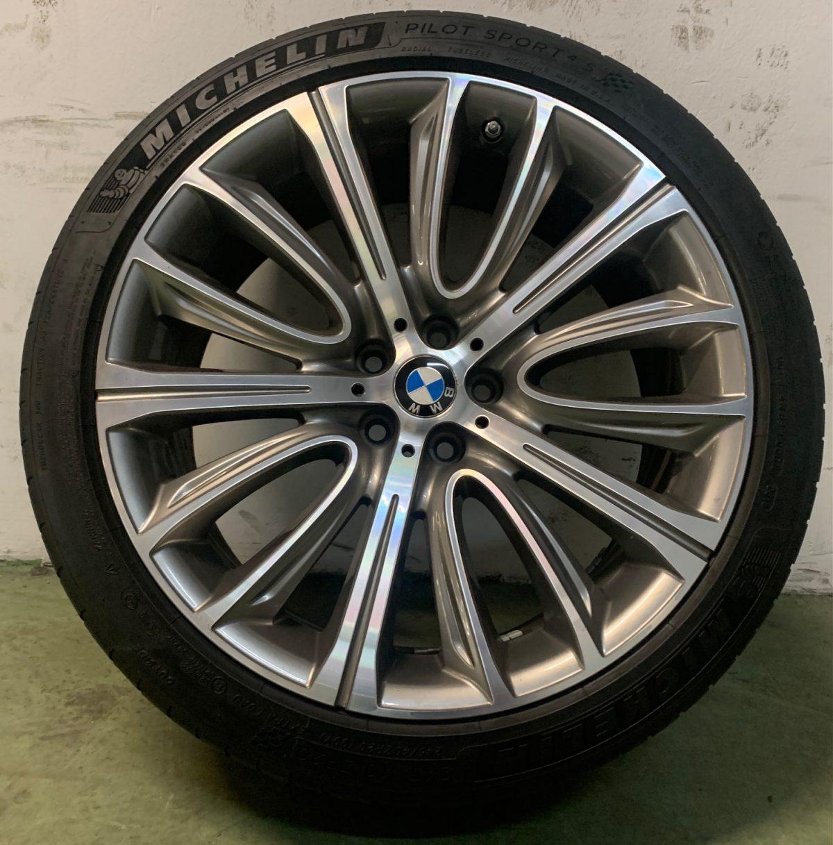 Gyári alufelni BMW G11 (628 Styl) 8,5x20 10x20 5X112 használt nyári garnitúra! Michelin gumikkal,nyomásszenzorral 1