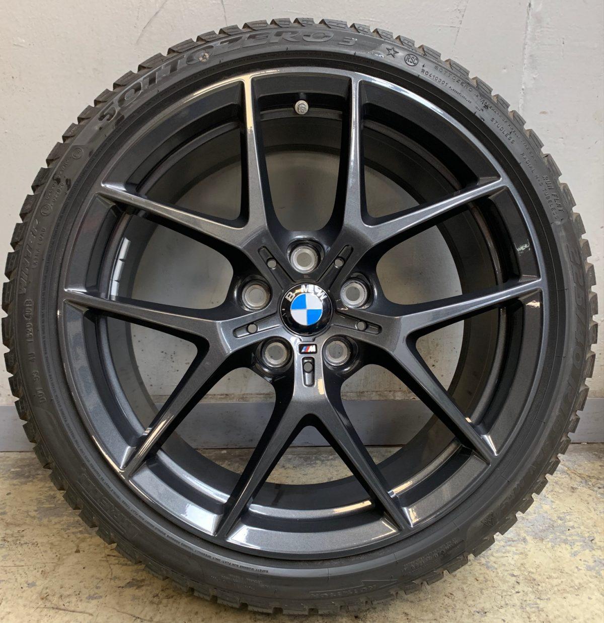 BMW új 1-es F40 (554M styl) gumikkal 8X18 5x112 új télikerék-garnitúra Bridgestone 1
