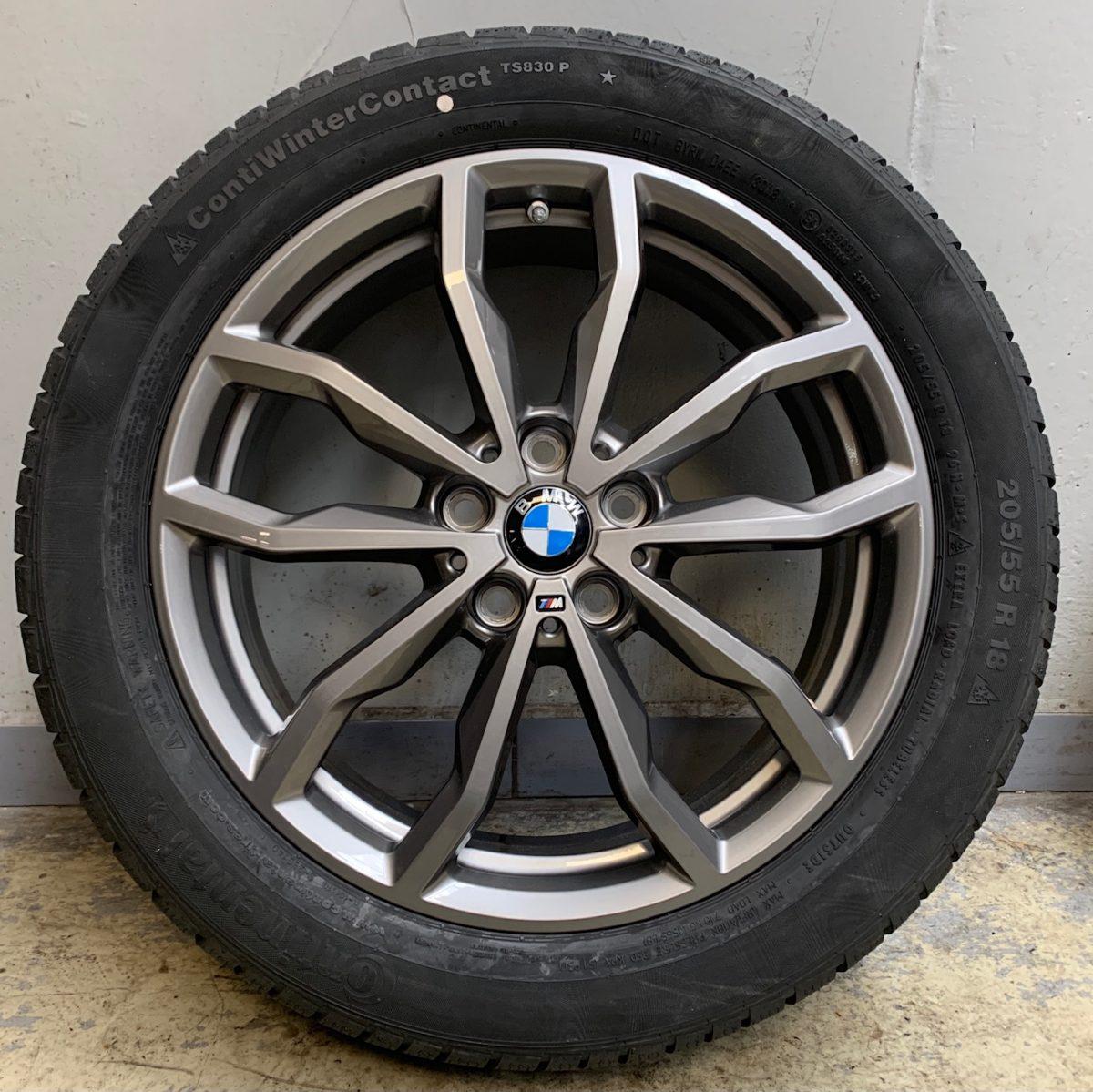 BMW X1-X2 F48-F39 (711M styl) 6,5X18 5x112 új télikerék-garnitúra Continental gumikkal 1